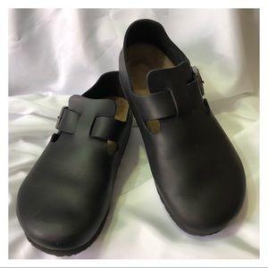 Birkenstock London leather shoes black